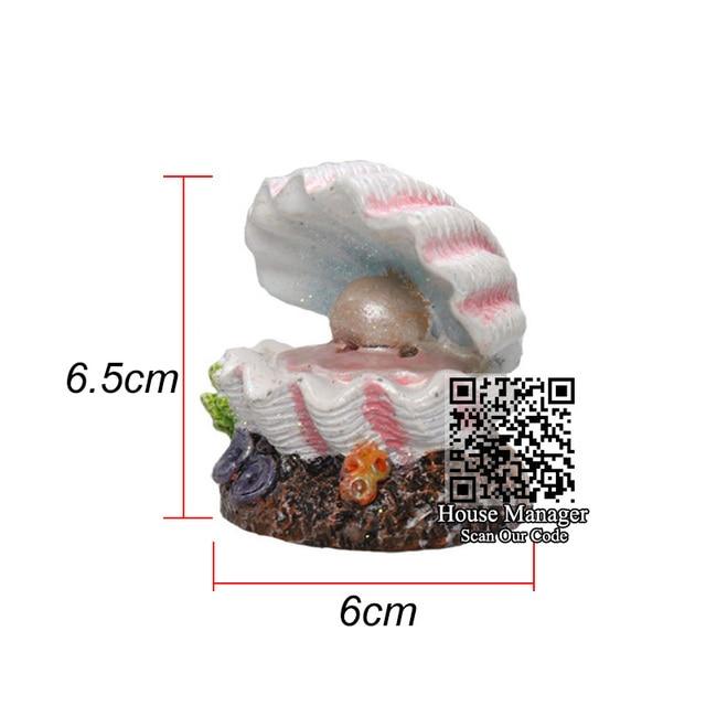 Air Stone Bubble Diffuser Aquarium Sea Pearl Shell - Volcano - Coral Flower  2