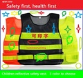 High quality Reflective safety traffic pupil clothing children reflective vests fluorescent mesh reflective safety clothing