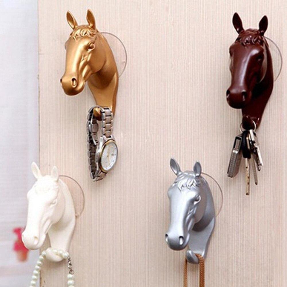 السنانير مفاتيح شماعات جدران الحصان الصغير الحديثة الزخرفية الراتنج تأثيث المنزل u70919