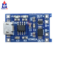 10PCS TP4056 Micro USB 5V 1A 18650 Lithium Battery Charger Board Charging Module With Dual Functions Led Indicator Power Supply