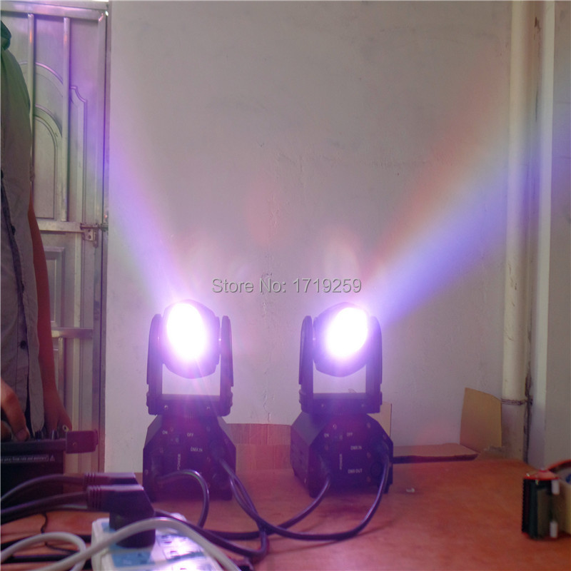 2pcs/lot Fast shipping Mini LED 10W RGBW Beam Moving Head Light Beam High Power Light with Professional for Party KTV Disco DJ oem 10 144 430 na 519 sma walkie talkie baofeng 5r px 888k tg uv2 uvd1p na 519