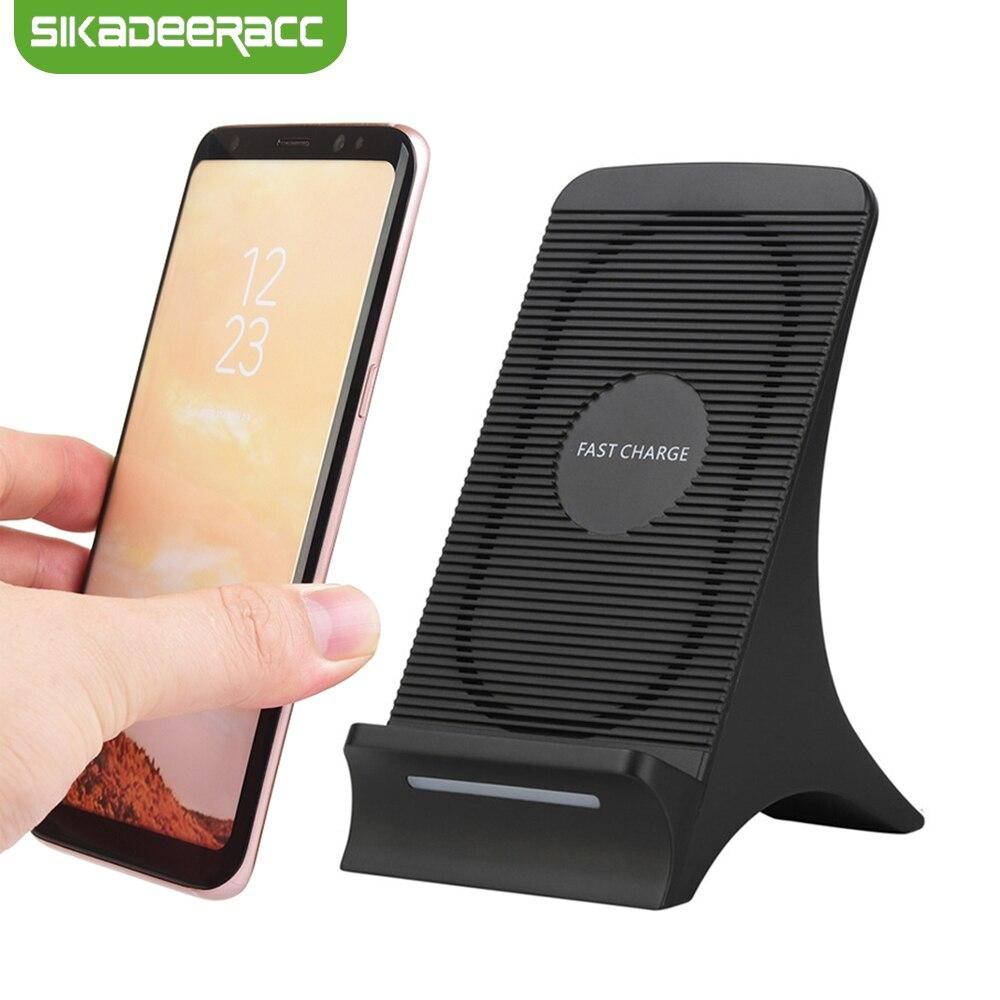 JK64 10 W Qi chargeur sans fil pour iPhone X 8 Plus Samsung Galaxy S7 Edge S8 Plus Note 8 5 Lumia 950 support de chargement de bureau Dock
