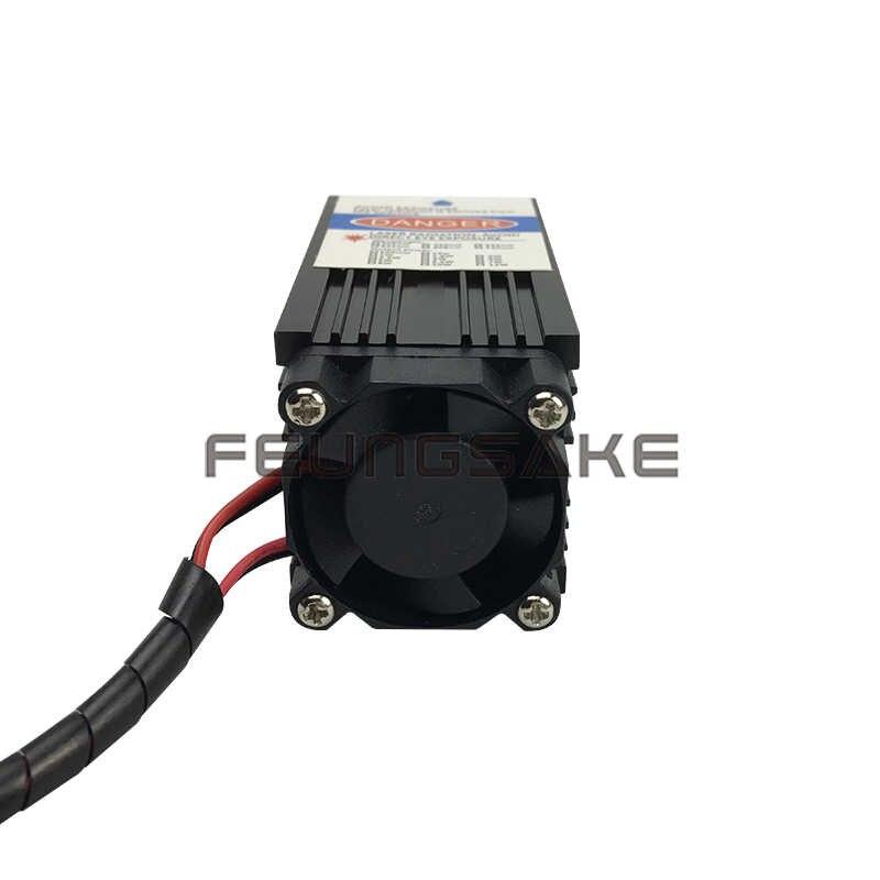 5500 mw bleu violet point laser gravure coupe 450nm haute puissance réglable focale de la tête laser 12 v DC 5.5 w diode laser