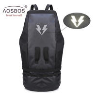 Aosbos Outdoor Multifunction Sports Bags Basketball Training Fitness Bag Large Capacity Gym Bag With Shoe Pocket