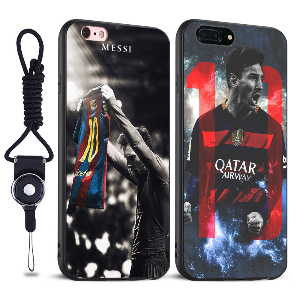 Lionel Messi Leo Soft Silicone Tpu Mobile Phone Case Cover bag For Apple iPhone 5 5S SE 6 6S 6Plus 6sPlus 7 7Plus 8 8Plus X