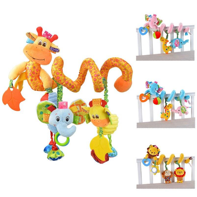 20-29 Cm Baby Geschenk Spiralwicklung Um Krippe Kinderwagen Kinderwagen Hängen Niedlichen Tier Kognitiven Entwickeln Kinder Playmate Mobile Phone Cases Elegante Form