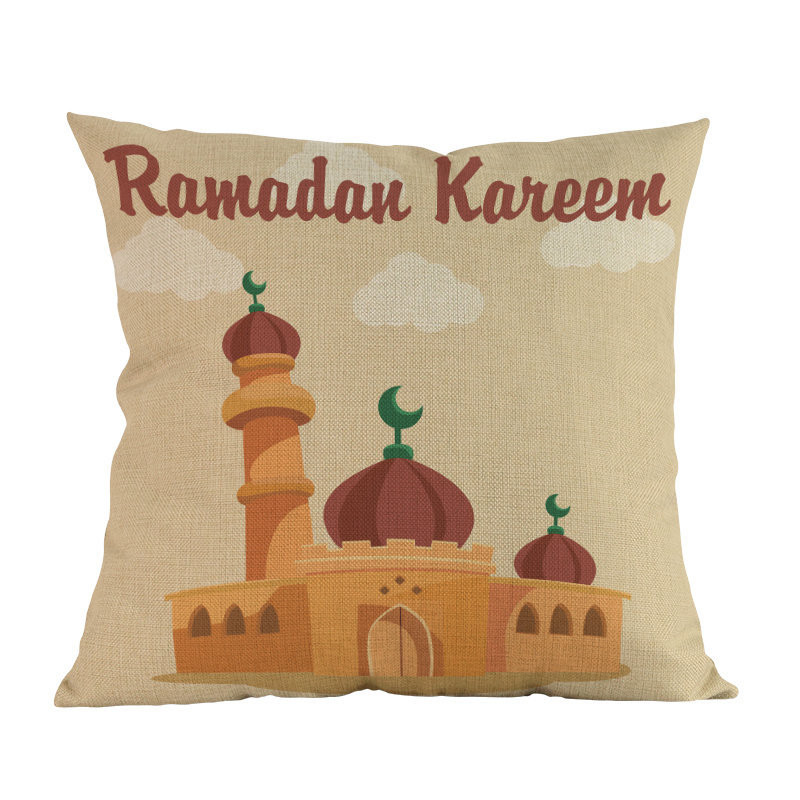 Islamic cartoon mosque pattern Cushion Cover Decoration Home house sofa chair seat living room pillow case friend kids gift