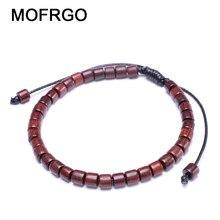 1984e63e2025 MOFRGO diseño Original suerte cuentas de madera pulsera Simple 3mm cuentas  pulsera ajustable Hollywood cuentas meditación pulser.