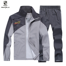 L-5XL tracksuit men Quick Dry Sports Suits Loose Tracksuits Mens Spring Autumn Fitness Running suits Set Warm Jogging Tracksuit