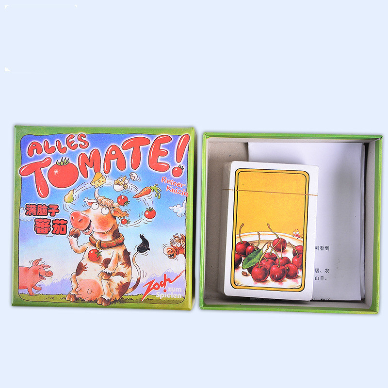 Family Party Game Parent-child Interaction Full Of Brain Tomato Alles Parent-child Board Game Desktop