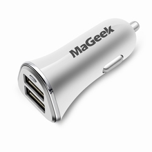 MaGeek Dual Port Triple Port USB Car Charger Car Lighter Slot Universal for Mobile Phone Tablet for iPhone iPad 4.8A 6.8A