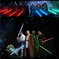 Star Wars Lightsaber Long Weapons Cosplay Sword with Light & Sounds PVC Action Figure Toys Collection Christmas Gift for kids