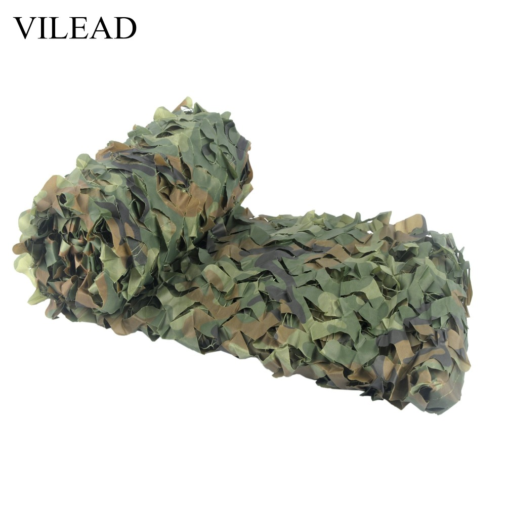 VILEAD 2M * 3M Militær Camping Camouflage Net Woodland Army Camo Netting Jakt Sun Shelter Tent Shade Net for Car Covering