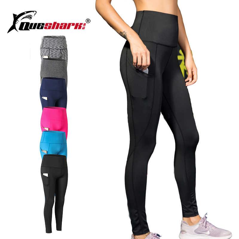 fbde7c59b2cfc Sport Tight Trousers Women Pocket Yoga Running Pants High Quality Girls  Black Sexy Slim Yoga Leggings