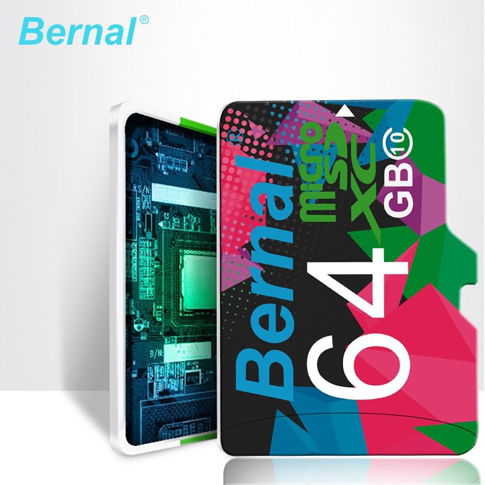 2018 Bernal micro sd carte 64 gb 128G Class10 cartao de memoria micro sd 8 GB 16 GB microsd 32 GB mini sd carte Mémoire carte TF carte