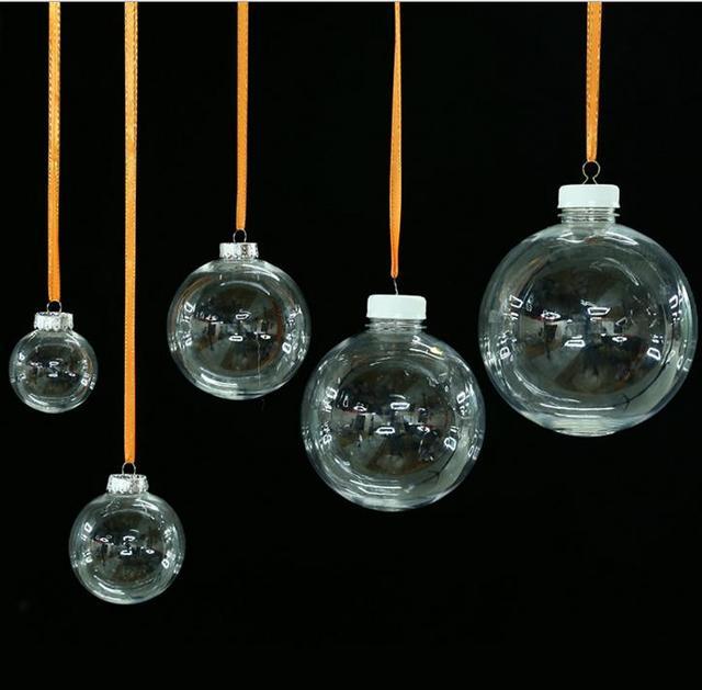 Vetro trasparente palle di natale alberi di natale for Lampadario palline vetro