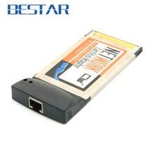 """רשת Ethernet RJ45 PCMCIA Cardbus 54 מ""""מ מחשב נייד/מחשב נייד מתאם 100 Mbps כרטיס הרחבה 54 מ""""מ"""