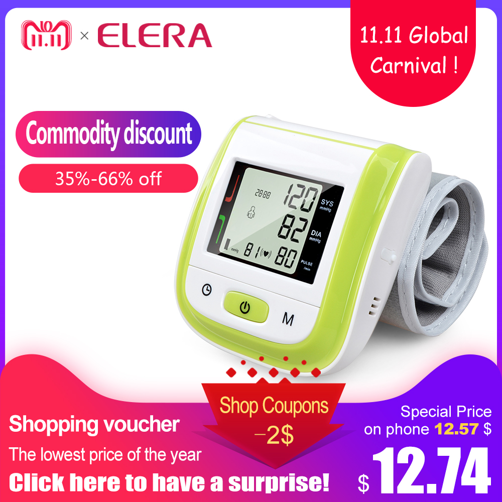 2016 New!! Automatic Digital Wrist Blood Pressure Monitor Meter Cuff Blood Pressure Measurement Health Monitor Sphygmomanometer