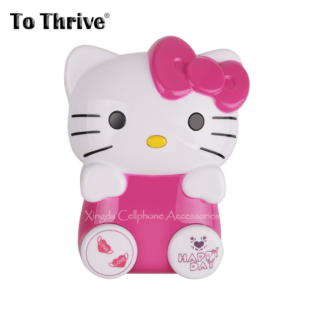 Real 4800mAh Power Bank Portable Cartoon Cute Hello Kitty Battery Charger for iPhone 5 6 Samsung Galaxy s6 s5