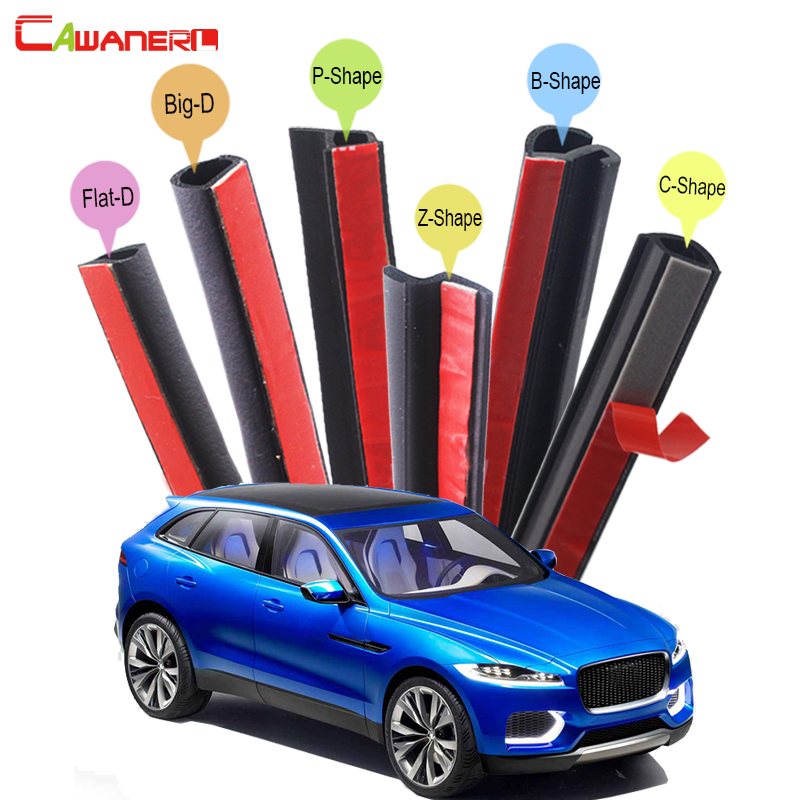 Cawanerl Whole Car Hood Trunk Door Sealing Seal Strip Kit Seal Edging Trim Rubber Weatherstrip For Jaguar C-X17 F-Pace
