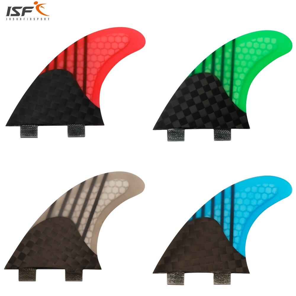 Heißer verkauf kohlefaser honeycomb triebwerke surfbrett flossen gute qualität quilhas de surf fcs G5 tri set surf finnen 3 stück für surf