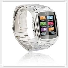 "Edelstahl Smartwatch 1,54 ""Touchscreen JAVA Bluetooth 2,0 SIM Kamera HD DV Aufnahme Schrittzähler Sitz Smart Watch Phone"