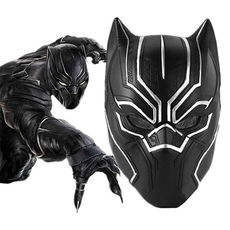 Black Panther Mask Halloween Masquerade Masks Marvel Movie Cosplay Mascara Party Maska Mascaras De Latex Realista Animal Masque image