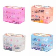 4 цвета 30 сетки регулируемые ювелирные изделия хранения коробок Бусины и бисер таблетки Организатор Дизайн ногтей Совет коробка для хранения Футляр Прозрачный Пластик