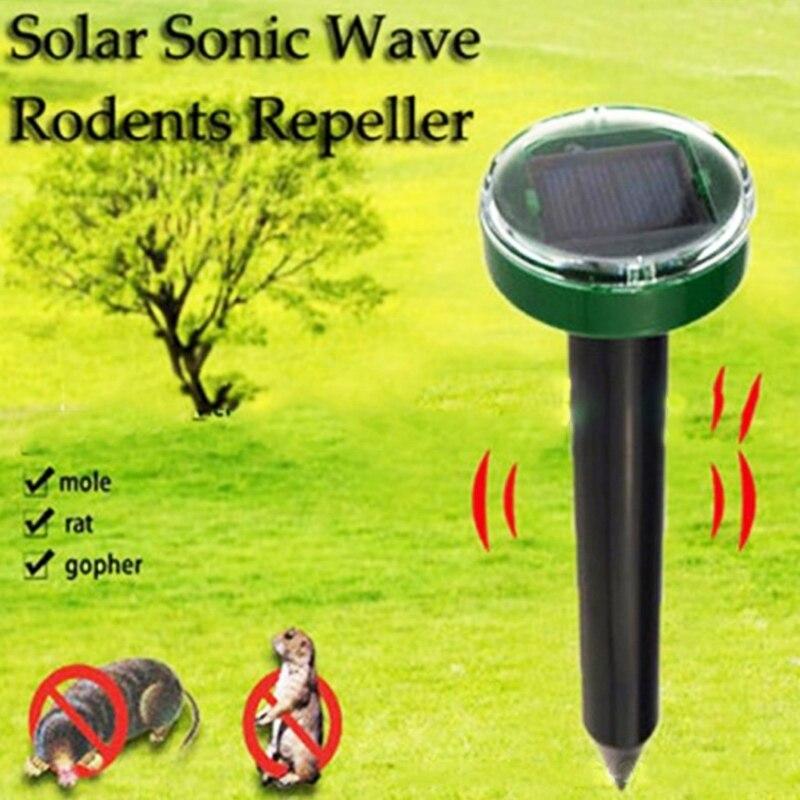 Outdoor Garden Mole Repellent Solar Power Ultrasonic Mole Snake Bird Mosquito Mouse Ultrasonic Pest Repeller Control Garden Yard