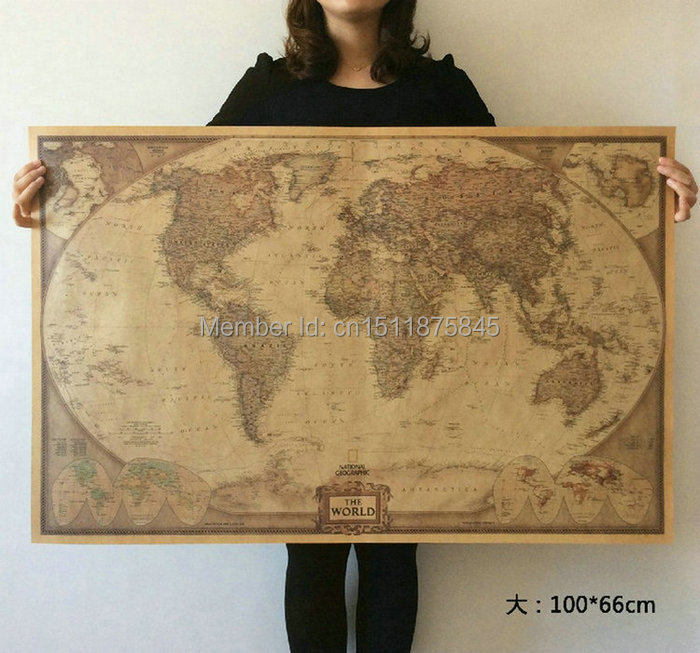 World map paper posters retro vintage style retro in wall stickers world map paper posters retro vintage style retro in wall stickers home decoraction art word map large paper posters jy 020 in wall stickers from home sciox Choice Image