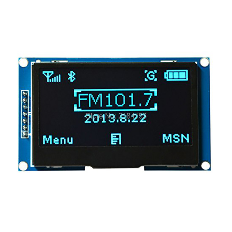 Wholesale 2.42 12864 OLED Display Module IIC I2C SPI Serial FOR Ardui C51 STM32 BLUE 2 42 12864 lcd oled display module spi iic i2c oleds blue screen 3v 5v 2 42 oled ssd1309 compatible for c51 stm32 arduino diy