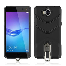 Anti Skid TPU+PC Scrub With Rotating Bracket Mobile Phone Case For HuaWei Y5 2017 Knock