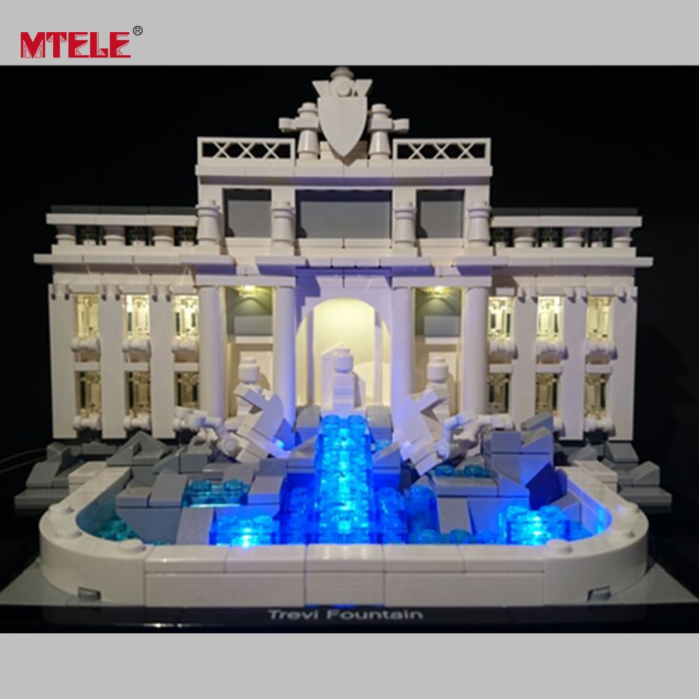 MTELE Brand High Quality LED Light Up kit For Trevi Fountain Model Architecture Series Compatible with Lego 21020 High furuyama m ando modern minimalism with a japanese touch taschen basic architecture series