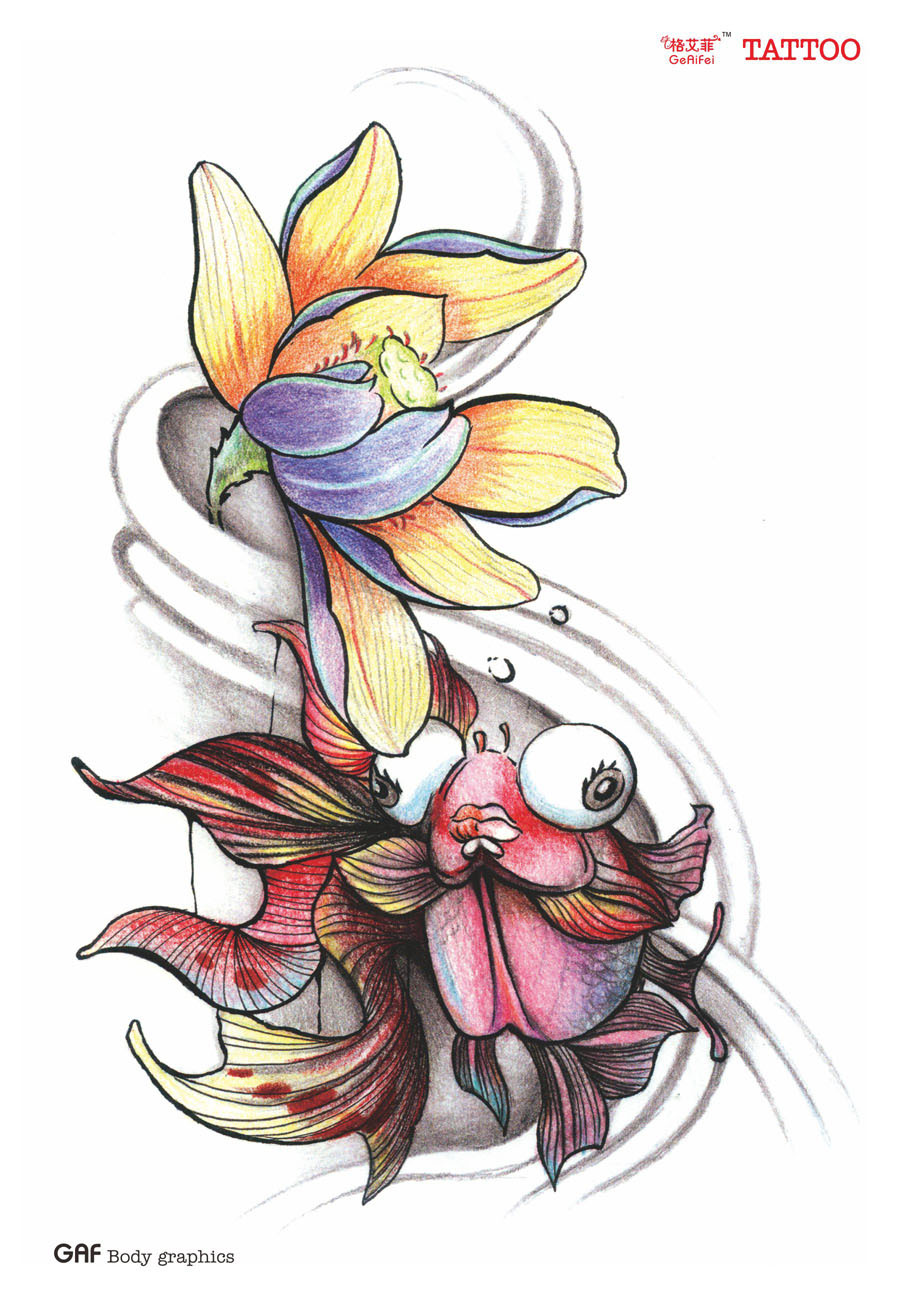 Large temporary tattoo stickers waterproof women high quality sexy large temporary tattoo stickers waterproof women high quality sexy products color goldfish lotus flower designs arm fake tattoo in temporary tattoos from dhlflorist Gallery