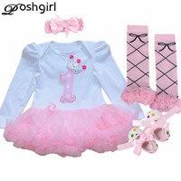 Newborn Baby Girl Clothes Christmas Baby 4Pcs Clothing Sets Tutu Romper Roupas De Bebe Menina Infant
