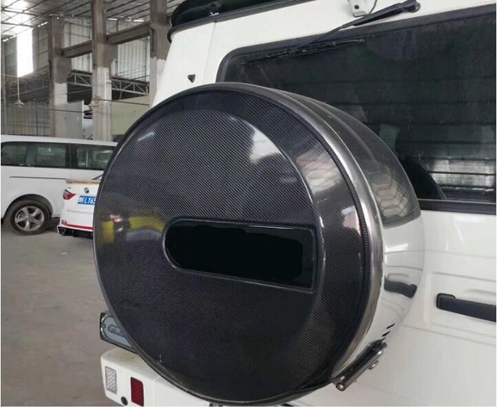Carbon Fiber Car Trunk Spare Tire Cover For Mercedes Benz W463 G Class G350 G500 G65 G55 G65 G63 AMG BY EMS