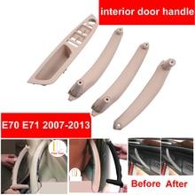 цена на Beige Black Armrest Car Left Front Driver's Seat LHD Interior Door Handle Inner Panel Pull Trim Cover For BMW E70 E71 E72 X5 X6