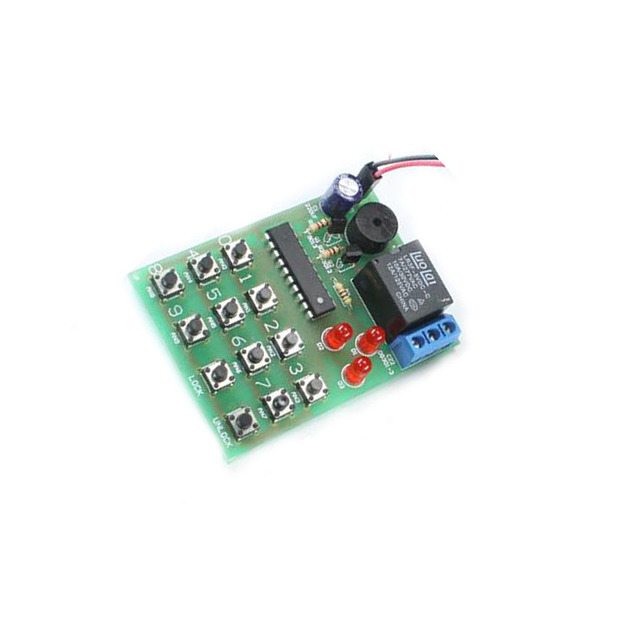 electronic coded lock kit HQS1436 Simple electronic combination lock ...
