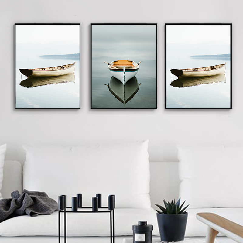 Frame, Boat, Sea, Home, Poster, Room