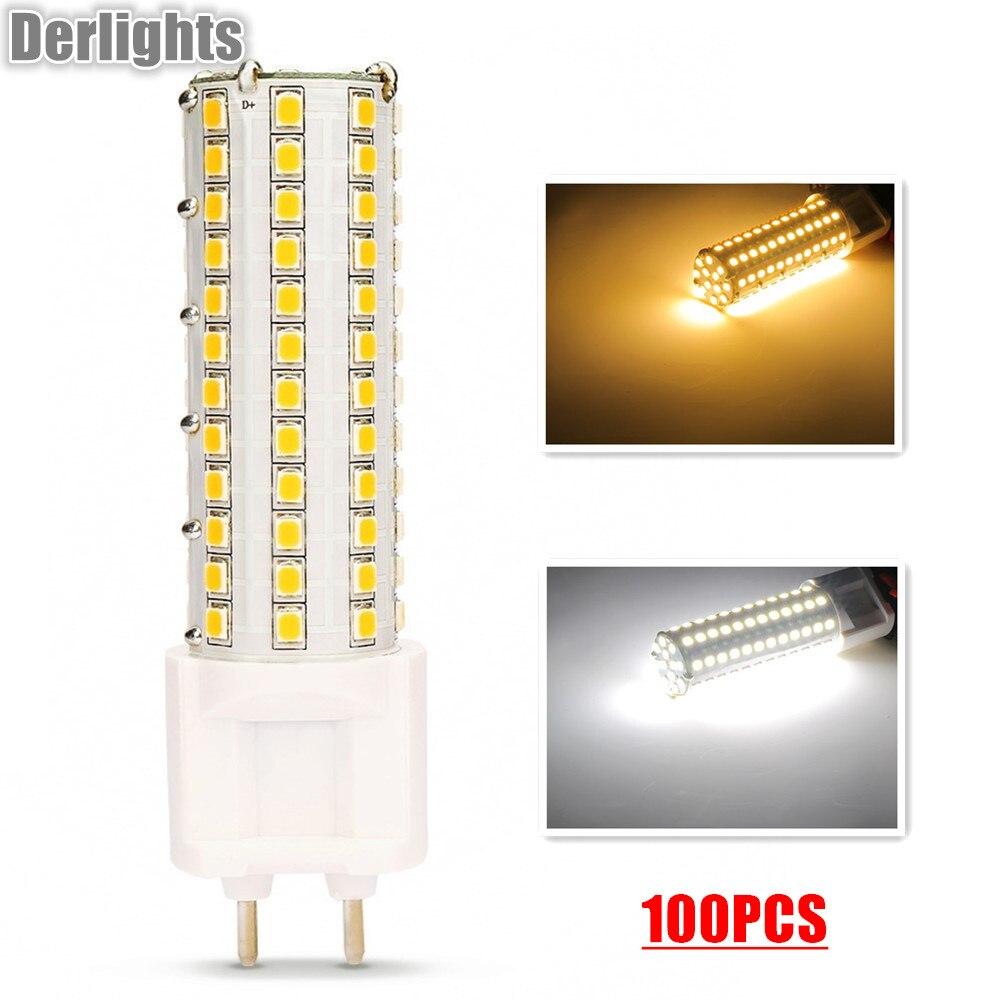 100 шт./лот <font><b>G12</b></font> светодиодный свет кукурузы 12 Вт светодиодный лампы 85 ~ 265 В SMD2835 теплый/холодный белый 360 градусов Яркость Освещение в помещении о&#8230;