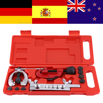Copper Brake Fuel Pipe Repair Double Flaring Dies Tool Set Clamp Kit Heat Treated Tube Cutter For Cutting & Flaring Copper