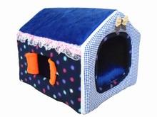 2015New Super Soft short Plush Warm dog house Foldable cute pet beds detachable kennels