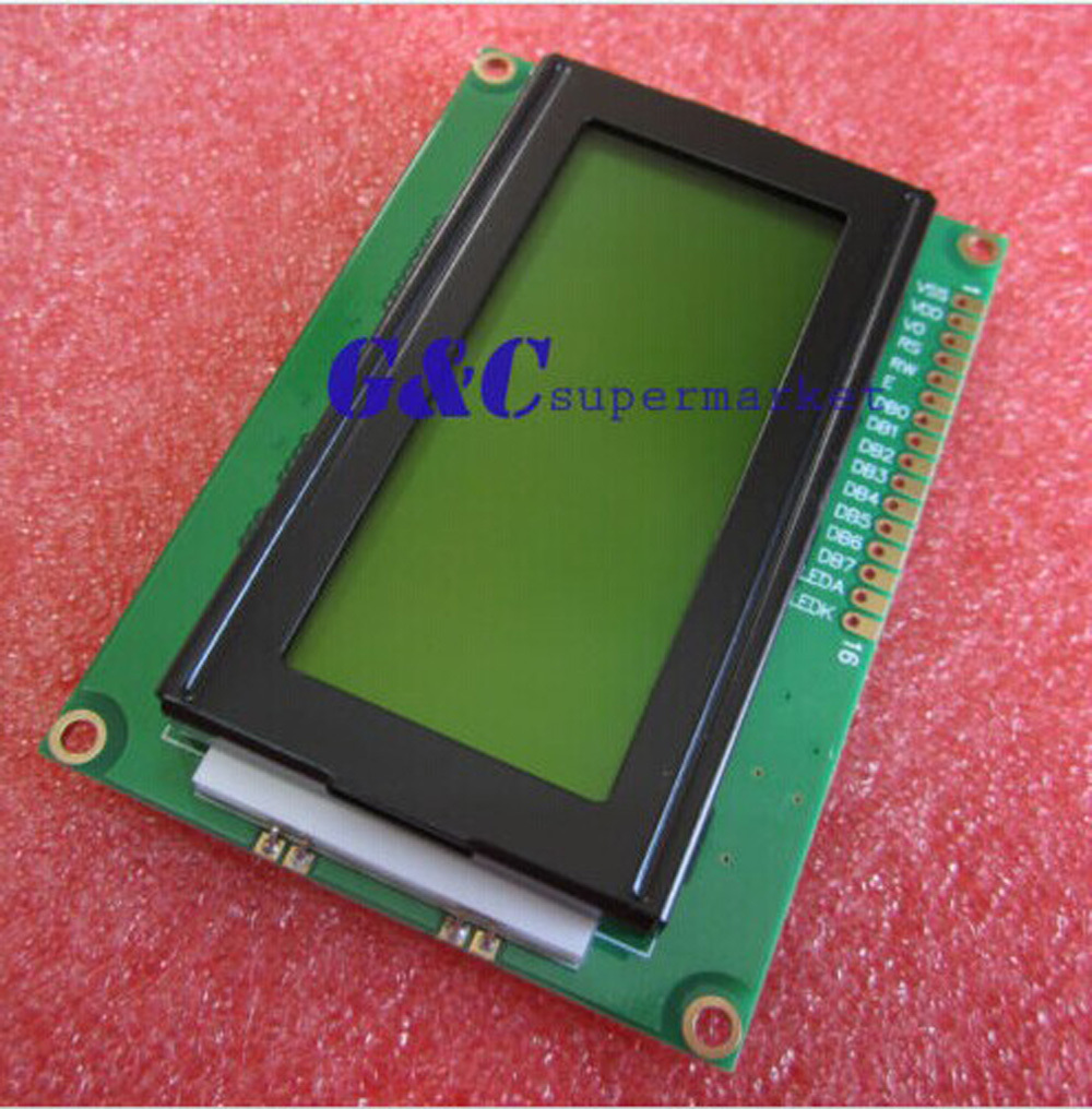 1pcs LCD1604 16x4 Character LCD Display Module LCM Yellow Blacklight 5V