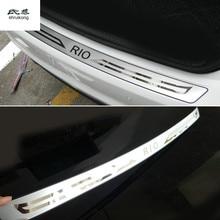 1 шт. автомобильный Стайлинг для 2012- KIA RIO K2 седан из нержавеющей стали задний багажник Накладка на порог Защитная педаль