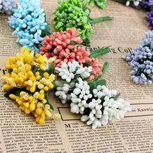12 шт./лот искусственный цветок тычинки Провода вынос руля/брак DIY ВЕНОК Свадебный декор
