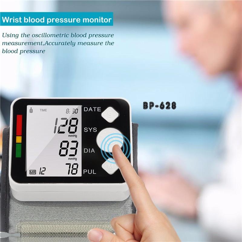 Yongnuo Wrist LCD монитор за кръвно налягане маншет без глас Автоматичен пулсометър тензиометро цифров сфигмоманометър BP628