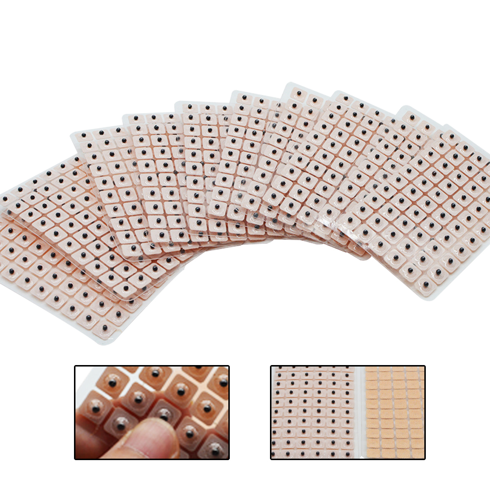 600Pcs/lot Magnets Plated Seeds Sticker Paste Bean Ear Massage Seed For Acupoint Therapy Auricular Acupuncture  D089