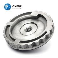 Z LION 4 Inch 100mm Snail Lock Backer Pad Aluminum Rubber Backer Diamond Edge Polishing Pad Adapter M14 5/8 11 Back Up Holder