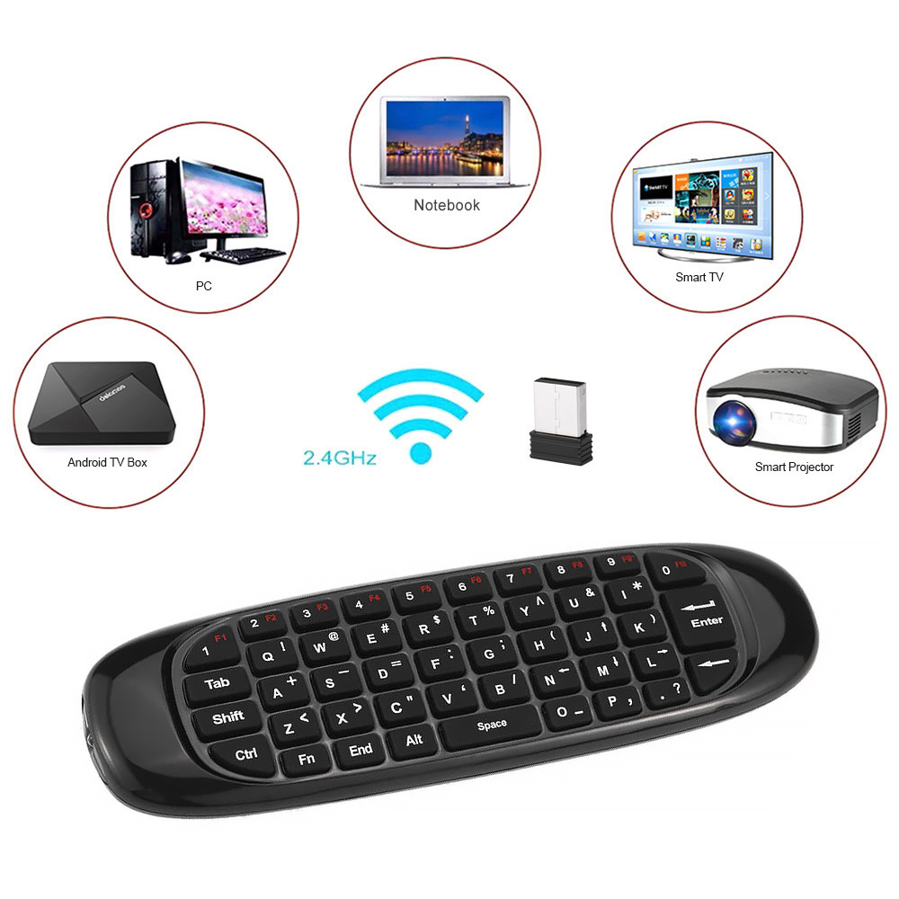 Fly Air Mouse C120 Wireless TV BOX Keyboard 2 4G Rechargeable Remote  Controller for Android Linux Windows Mac