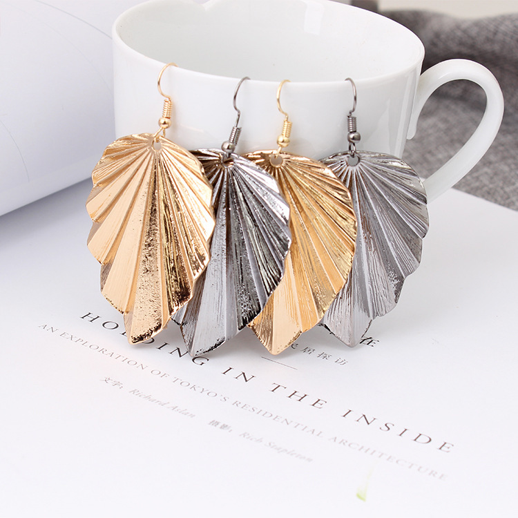 2019 Sale Tin Alloy Trendy Cartoon Amazon Ebay 39 s Explosive Personalized Leaf Earrings And New European American Fashion Jewelry in Drop Earrings from Jewelry amp Accessories